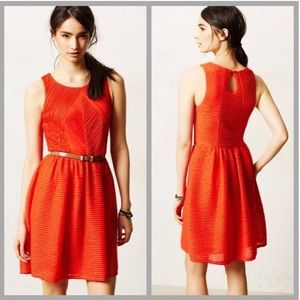 Anthropologie Bordeaux Textured Tank Dress